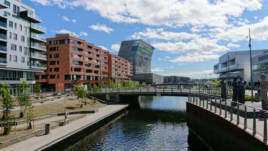 Picture of form Bjørvika, Oslo.